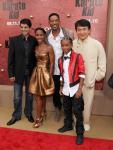 Smith Family with Jackie Chan & Ralph Macchio