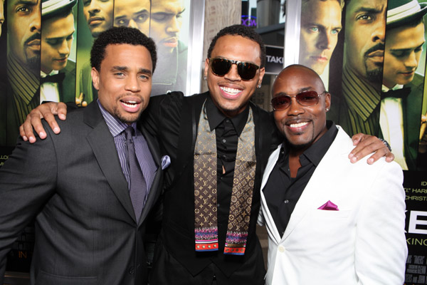Michael Ealy, Chris Brown & Will Packer