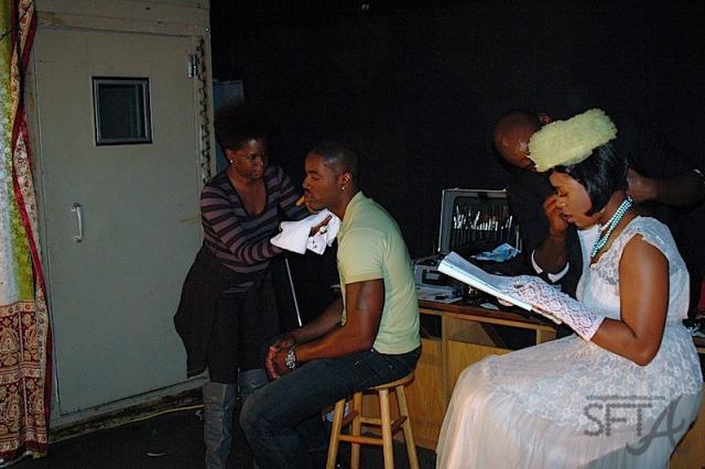 Fantasia Runs Lines During Make Up