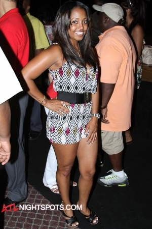 Carmelo Anthony,Angela Simmons,Keyshia Pulliam,Meeka Claxton at Clark Atlanta University Block Party Concert (39 of 59)
