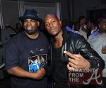 DJ LT (L) and actor Tyrese Gibson