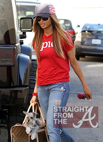 Ciara and Pups in LA 020912-2