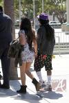Lil Wayne and Dhea Hit Lakers Game 030412-3