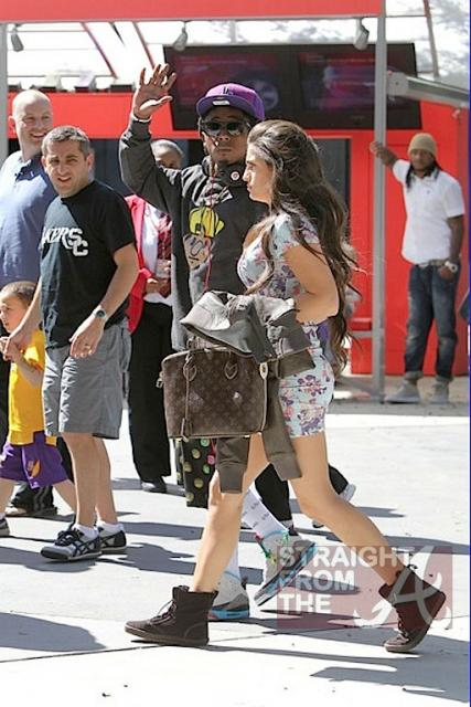 Lil Wayne and Dhea Hit Lakers Game 030412-4