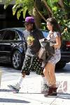 Lil Wayne and Dhea Hit Lakers Game 030412-9