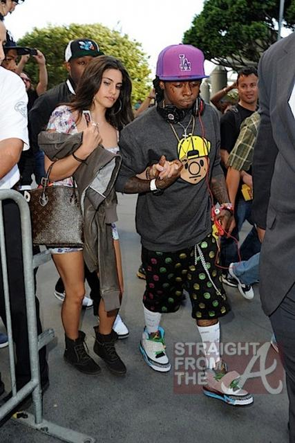 Lil Wayne and Dhea Hit Lakers Game 030412-11