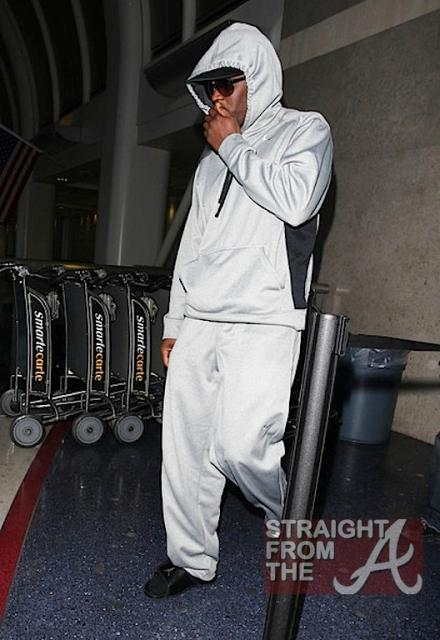 Diddy at LAX 031212-2