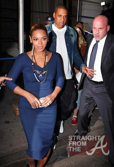 Beyonce and Jay-Z Leave NOBU 031912-1