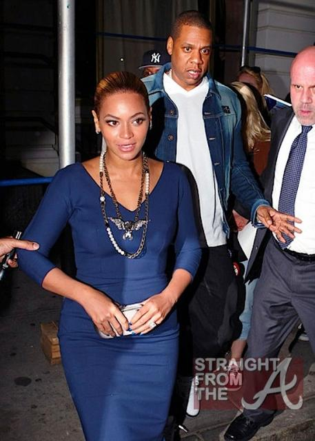 Beyonce and Jay-Z Leave NOBU 031912-3