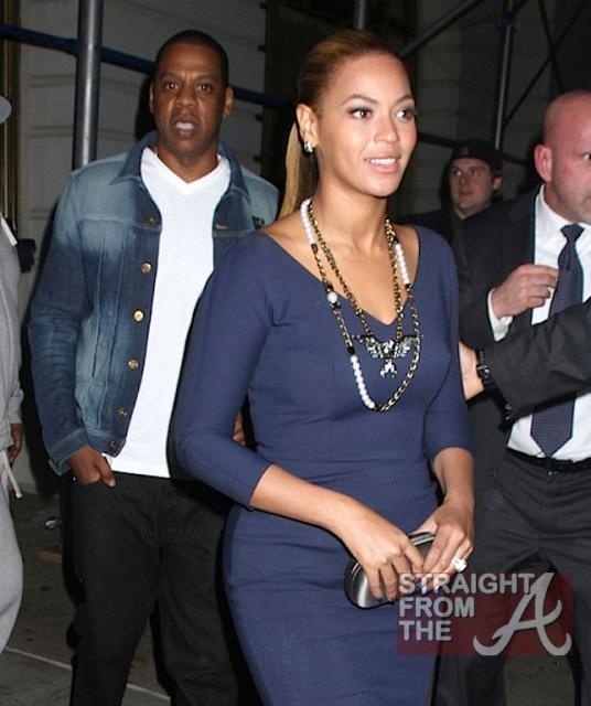 Beyonce and Jay-Z Leave NOBU 031912-8