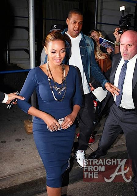 Beyonce and Jay-Z Leave NOBU 031912-9