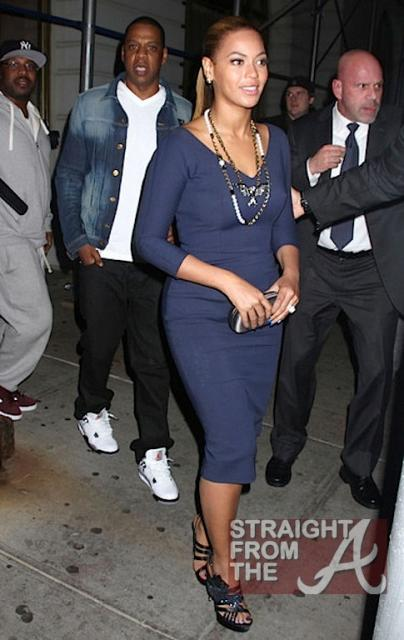 Beyonce and Jay-Z Leave NOBU 031912-13