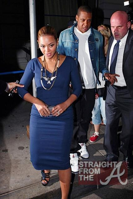 Beyonce and Jay-Z Leave NOBU 031912-14