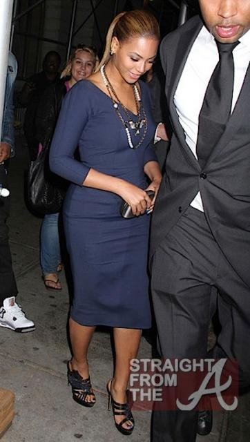Beyonce and Jay-Z Leave NOBU 031912-16