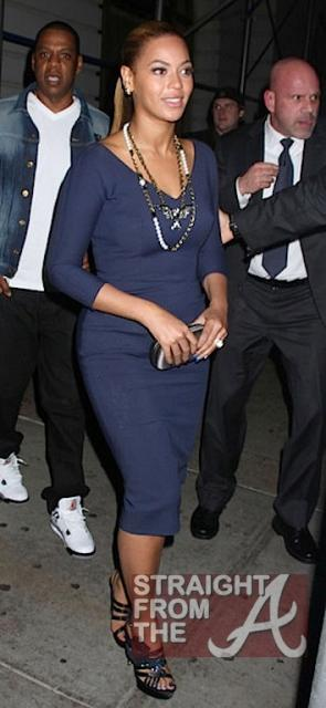 Beyonce and Jay-Z Leave NOBU 031912-18