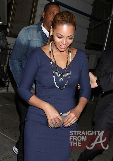 Beyonce and Jay-Z Leave NOBU 031912-25