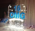 Zonnique Sweet 16 Ice Sculpture
