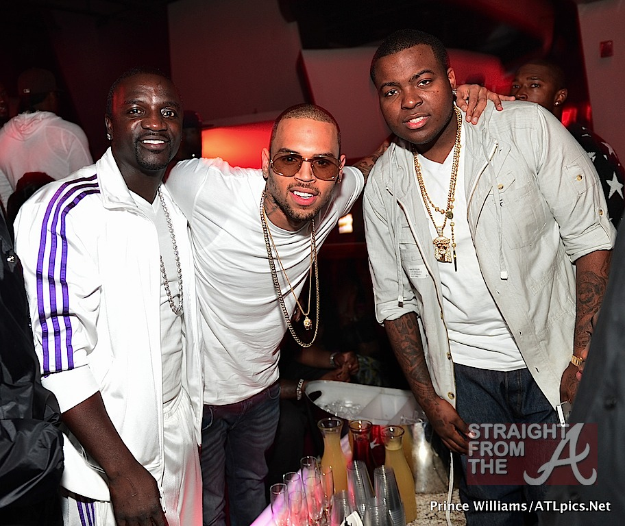 Akon, Chris Brown and Sean Kingston