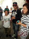T.I., his son and Jamie Foster Brown