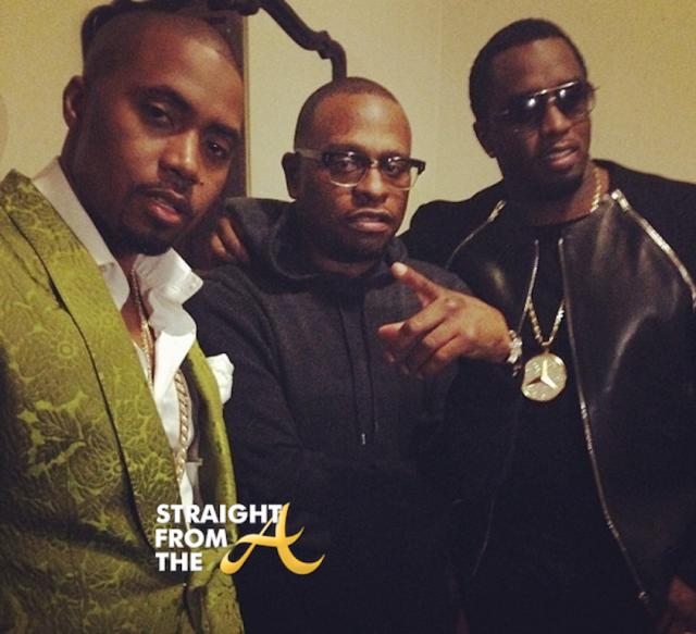 Nas Scarface and DIddy - VIBE IMPACT AWARDS 2014