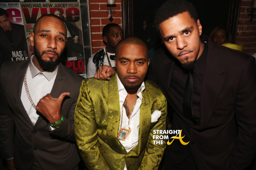 J Cole And His Dad Swizz Beatz, Nas, J Co...