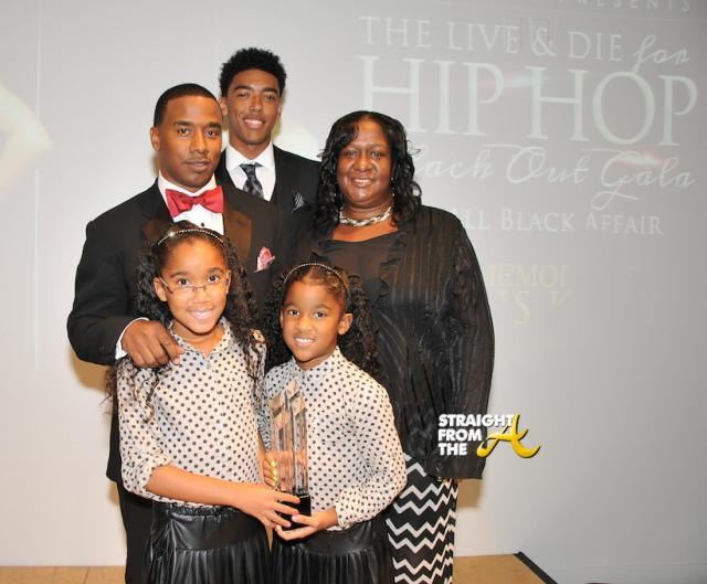 Honoree Kawan Prather, children and mother