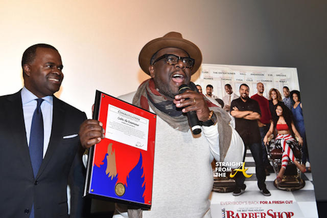 Cedric The Entertainer with the Phoenix Awards