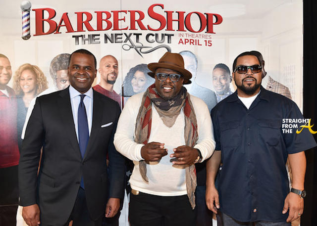 Mayor Kasim Reed - Cedric The Entertainer - Ice Cube on the Red Carpet