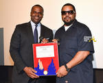 Ice Cube and Mayor Kasim Reed with the Phoenix Award - 2