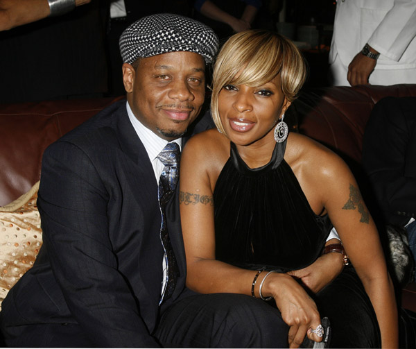 Mary J. Blige & Hubby, Kendu Isaacs @ Universal's Grammy Celebration 2/10/08