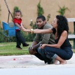 Usher And Family At The Park