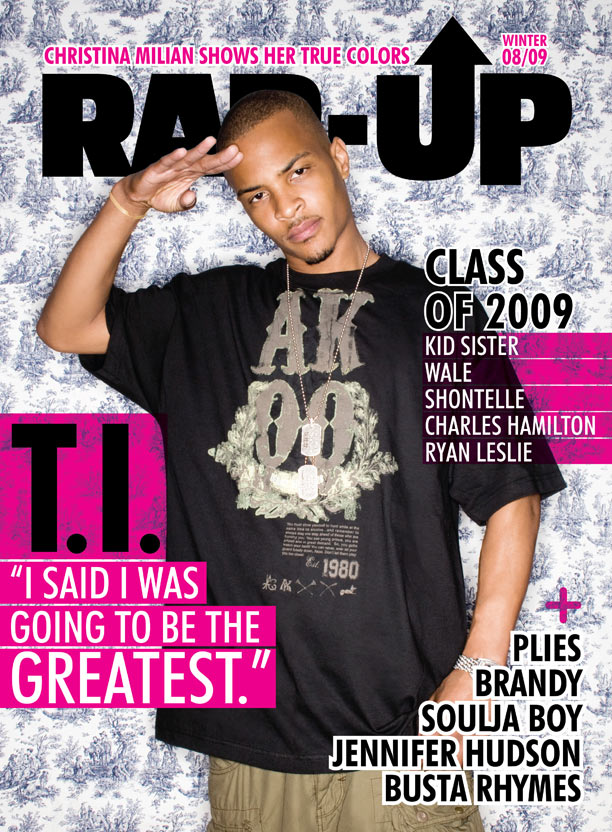 T I  Covers Rap Up Magazine's 2008/2009 Winter Issue
