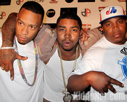 Lil Scrappy (middle) & Guests