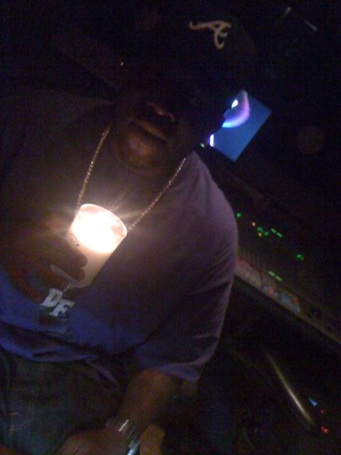 Big Boi in the studio