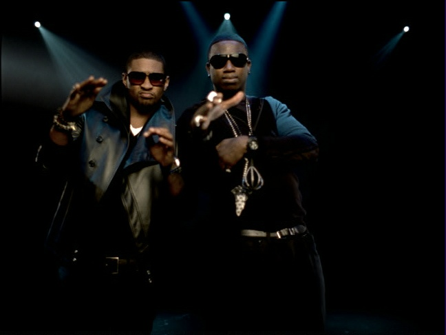 Gucci Mane & Usher ~ Spotlight Video Shoot