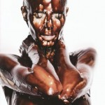Heidi Klum Naked in Blackface…I Mean Chocolate Syrup