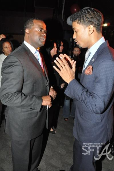 Kasim Reed & Fonzworth Bentley
