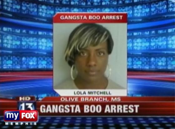 gangsta boo Mugshot