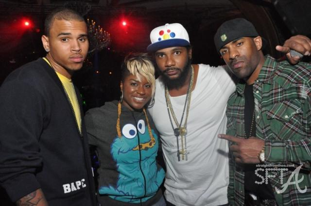 Chris Brown, Ester Dean, Polow, DJ Clue