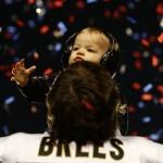 Drew Brees & Son ~ Super Bowl XLIV