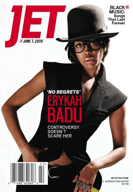 Cover Shots Erykah Badu For Jet Magazine Straight From