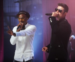 B.o.B and Robin Thicke