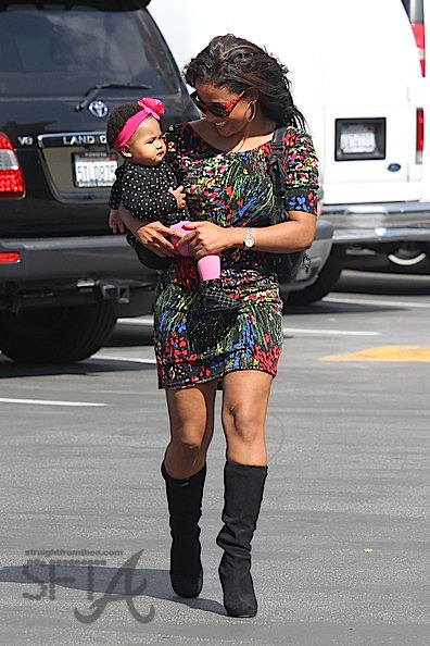 the latest cf291 1b1de Spotted: Christina Milan & Baby Violet… | StraightFromTheA ...