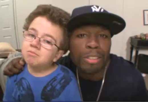 Curtis 50 Cent Jackson Was A Guest On His Rumored Girlfriend Chelsea Lately Last Night Along With Yousensation Keenan Cahill