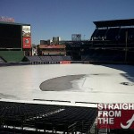 ATL Pic of the Day: Turner Field (Home of the Atlanta Braves) Covered in Ice…