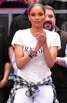 Ciara at NY Knicks Game