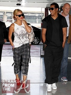 Beyonce Jay-Z Leave Paris 1
