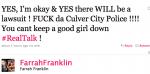Franklin Tweet