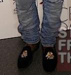 Kanye-West-2011-CFDA-Fashion-shawl-collar-cream-tuxedo-jacket-Balmain-jeans-Stubbs-Wootton-slippers-Phoebe-Philo