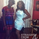 Dana Chane'l (hairstylist) and Toya Carter at Bridal Shower